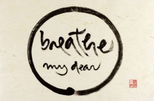 Breathe_Thich Nhat Hanh calligraphy